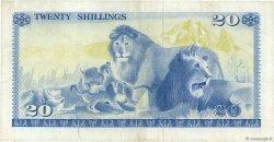 20 Shillings KENYA  1976 P.13c TTB+