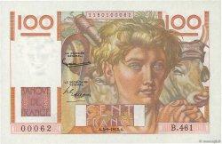 100 Francs JEUNE PAYSAN FRANCE  1952 F.28.33 pr.NEUF