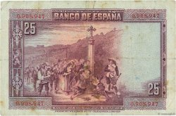 25 Pesetas ESPAGNE  1928 P.074a TB