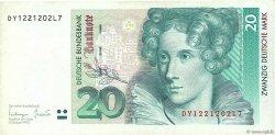 20 Deutsche Mark ALLEMAGNE  1993 P.039b TTB