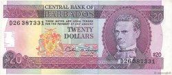 20 Dollars BARBADE  1993 P.44 TTB