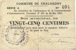 25 Centimes FRANCE régionalisme et divers  1915 JP.02-0435 TB