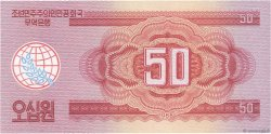 50 Won CORÉE DU NORD  1988 P.38 pr.NEUF