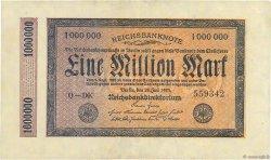 1 Million Mark ALLEMAGNE  1923 P.093 SUP