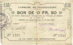 50 Centimes FRANCE régionalisme et divers FAUCOUCOURT 1915 JP.02-0778 TB
