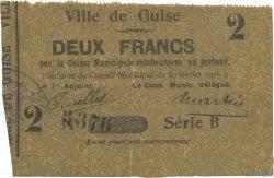 2 Francs FRANCE régionalisme et divers GUISE 1915 JP.02-1103 TTB+