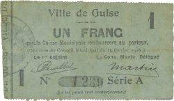 1 Franc FRANCE régionalisme et divers GUISE 1915 JP.02-1107 TTB