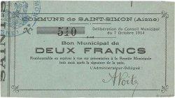 2 Francs FRANCE régionalisme et divers SAINT SIMON 1914 JP.02-2101 TTB+