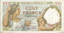 100 Francs SULLY FRANCE  1940 F.26.22 TTB+