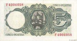 5 Pesetas ESPAGNE  1951 P.140a SPL