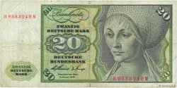 20 Deutsche Mark ALLEMAGNE FÉDÉRALE  1960 P.20a TB+