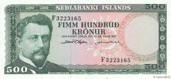 500 Kronur ISLANDE  1961 P.45a pr.NEUF
