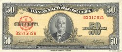 50 Pesos CUBA  1958 P.081b SUP