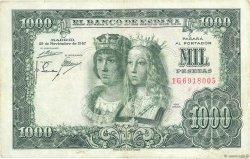 1000 Pesetas ESPAGNE  1957 P.149a TTB