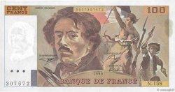 100 Francs DELACROIX imprimé en continu FRANCE  1990 F.69bis.02b SUP à SPL