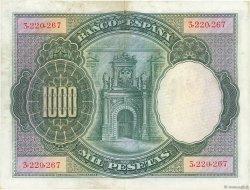 1000 Pesetas ESPAGNE  1925 P.070a TTB+