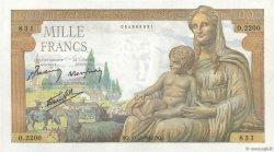 1000 Francs DÉESSE DÉMÉTER FRANCE  1942 F.40.13 SUP