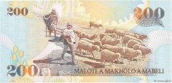 200 Maloti LESOTHO  2001 P.20a NEUF