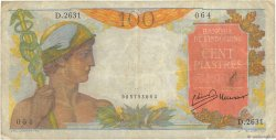 100 Piastres INDOCHINE FRANÇAISE  1954 P.082b TB+