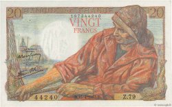 20 Francs PÊCHEUR FRANCE  1943 F.13.06 SPL