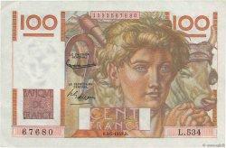 100 Francs JEUNE PAYSAN FRANCE  1953 F.28.36 SUP