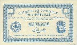 1 Franc PHILIPPEVILLE ALGÉRIE  1914 JP.142.06 SPL+