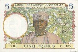 5 Francs type 1934 AFRIQUE OCCIDENTALE FRANÇAISE (1895-1958)  1939 P.21 pr.NEUF