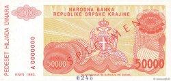 50000 Dinara CROATIE  1993 P.R21s NEUF