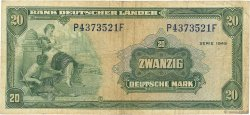 20 Deutsche Mark ALLEMAGNE  1949 P.017a TB