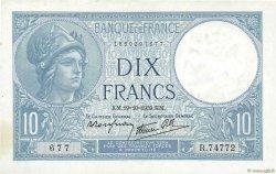 10 Francs MINERVE modifié FRANCE  1939 F.07.12 pr.SPL