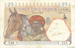 25 Francs type 1933 AFRIQUE OCCIDENTALE FRANÇAISE (1895-1958)  1936 P.22 TTB+