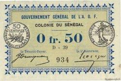 0,50 Franc SÉNÉGAL  1917 P.01b SUP