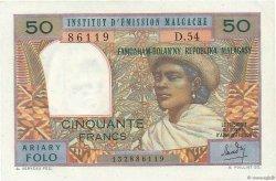 50 Francs - 10 Ariary MADAGASCAR  1962 P.61 SUP+