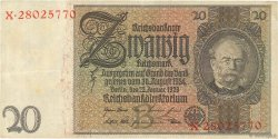 20 Reichsmark ALLEMAGNE  1929 P.181a SUP