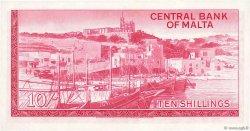 10 Shillings MALTE  1968 P.28a NEUF