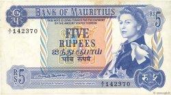 5 Rupees ÎLE MAURICE  1967 P.30a TTB
