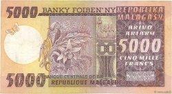 5000 Francs - 1000 Ariary MADAGASCAR  1974 P.66a TTB