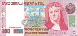 200 Nuevos Soles PÉROU  1995 P.162a NEUF
