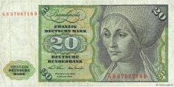 20 Deutsche Mark ALLEMAGNE FÉDÉRALE  1970 P.32a pr.TTB