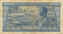 1000 Francs GUINÉE  1958 P.09 TB à TTB