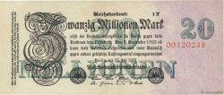20 Millions Mark ALLEMAGNE  1923 P.097b pr.SUP
