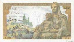 1000 Francs DÉESSE DÉMÉTER FRANCE  1942 F.40.10 pr.NEUF