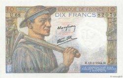 10 Francs MINEUR FRANCE  1944 F.08.10 SPL