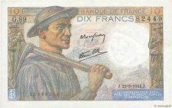 10 Francs MINEUR FRANCE  1944 F.08.12 SPL+