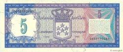 5 Gulden ANTILLES NÉERLANDAISES  1984 P.15b NEUF