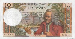 10 Francs VOLTAIRE FRANCE  1968 F.62.33 SPL