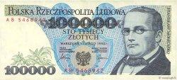 100000 Zlotych POLOGNE  1990 P.154a TTB