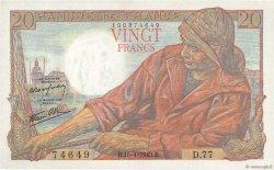 20 Francs PÊCHEUR FRANCE  1943 F.13.06 pr.SPL