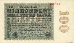 100 Millions Mark ALLEMAGNE  1923 P.107e pr.NEUF