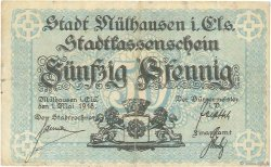 50 Pfennig ALLEMAGNE Mulhouse 1918  TB